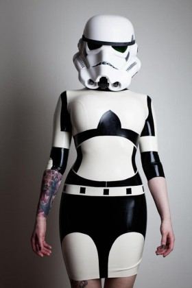 star wars storm trooper latex cosplay costume for women